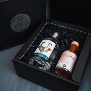 Sensorik Gin (0,5l) und Sensorik Tonic Essenz (0,2l) in der Geschenkbox