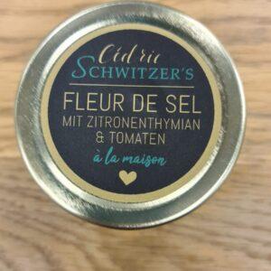 Cédric Schwitzer à la maison – Fleur de Sel mit Zitronenthymian & Tomaten