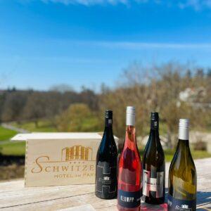 Wein Box Hausweine in der hochwertigen Schwitzer's Holzbox